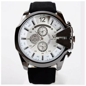 V6 Mens Sport Wrist Watch - White