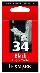 Lexmark 34XL Black High Yield Print Cartridge - Inkjet Ink/Print Cartridge