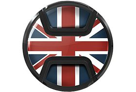 Kaiser Snap On Lens Cap Union Jack 58mm