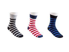 Undeez Mens Striped Socks (3 pack)