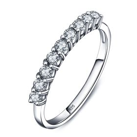 Miss Jewels 0.27ctw Eternity Band in 925 - Sterling Silver