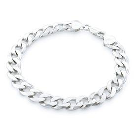 Miss Jewels 8mm 925 Sterling Silver Curb Bracelet