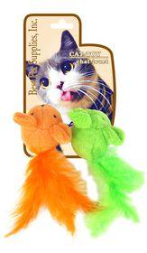 Bestpetz -  Cat Toy Feather Mice