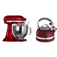KitchenAid Artisan Stand Mixer - Candy Apple with FREE Stovetop Kettle