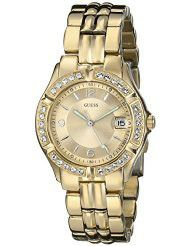 Guess Ladies Dazzling Sporty Mid-Size Gold-Tone Watch - U85110L1 (Parallel Import)