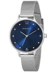 Skagen Ladies Anita Crystal-Accented Stainless Steel Watch - SKW2307 (Parallel Import)