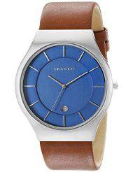 Skagen Men's Grenen Analog Display Analog Quartz Brown Watch - SKW6160 (Parallel Import)