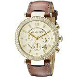 Michael Kors Ladies Parker Gold-Tone Stainless Steel Watch with Crystals - MK2249 (Parallel Import)