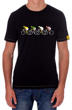 Apres Velo Men's TDFIXATION T-Shirt - Black