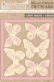 Celebr8 Heart-itude Coloured Chipboard - Butterfly Pack