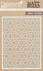 Celebr8 Heart-itude Matt Board Equi - Ornate Mesh Pattern