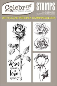 Celebr8 Heart-itude Stamp - Roses