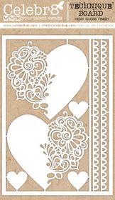 Celebr8 Heart-itude Technique Board - Ornate Hearts