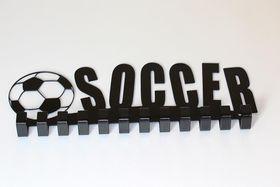 TrendyShop Soccer Medal Hanger - Black