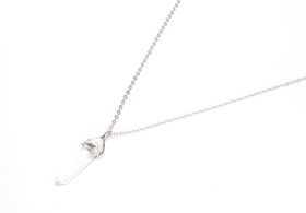 Lakota Inspirations Silver Plated Crystal Chain Necklace - Clear Quartz