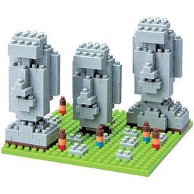 Nanoblock - Moai Statues on Easter Island