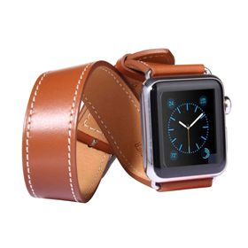 Tuff-Luv Double WatchBand with Connector for the Apple Watch - 42mm - Brown