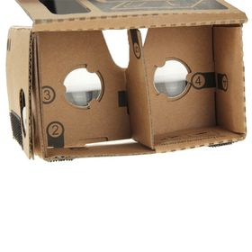 Tuff-Luv Cardboard 3D Glasses Virtual Reality with NFC Tag for Smartphones 4-5 inch - Brown