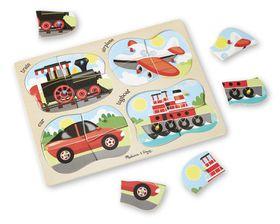 Melissa & Doug 4-in-1 Vehicle Peg Puzzle