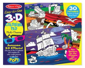 Melissa & Doug Boy 3D Colouring In Book