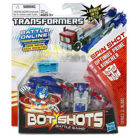 Transformers - Bot Shot Launcher - Spin! - Optimus Prime