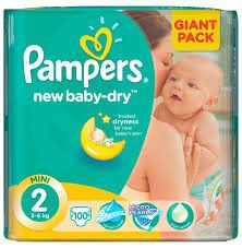 Pampers - New Baby 100 Nappies - Size 2 Giant Pack