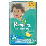 Pampers - Active Baby 70 Nappies - Size 4+ Giant Pack
