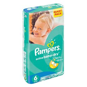 Pampers - Active Baby 56 Nappies - Size 6 Giant Pack