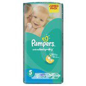 Pampers - Active Baby 52 Nappies - Size 5 Jumbo Pack