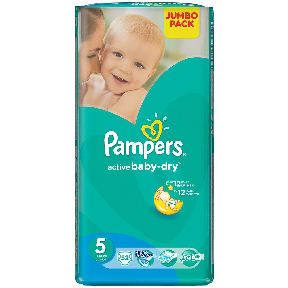 pampers active baby 52 nappies size 5 jumbo pack buy. Black Bedroom Furniture Sets. Home Design Ideas
