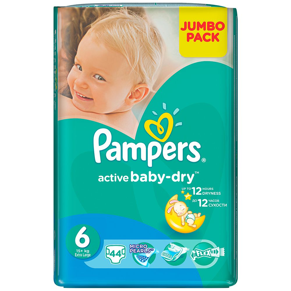 pampers active baby 44 nappies size 6 jumbo pack buy. Black Bedroom Furniture Sets. Home Design Ideas
