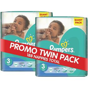 Pampers - Active Baby 2 x 94 Nappies - Size 3