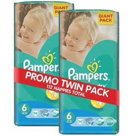 Pampers - Active Baby 2 x 56 Nappies - Size 6 Twin Giant Pack