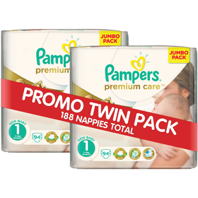 Pampers - Premium Care 2 x 94 Nappies - Size 1 Twin Jumbo Pack