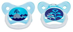 Dr.Brown's - 2-Pack Prevent Butterfly Shield Stage 1 Pacifier - Blue
