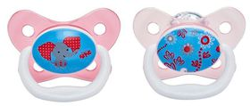 Dr.Brown's - 2-Pack Prevent Butterfly Shield Stage 2 Pacifier - Pink