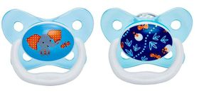 Dr.Brown's - 2-Pack Prevent Butterfly Shield Stage 2 Pacifier - Blue