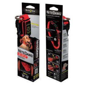 Nite Ize - Nite Dawg LED Dog Collar - Small - Red