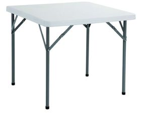 Bushtec - 86cm Square High Density Table - White