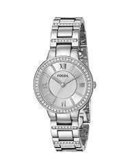 Fossil Ladies ES3282 Virginia Three Hand Stainless Steel Watch - Silver-Tone (Parallel Import)