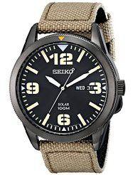 Seiko Men's SNE331 Sport Solar Analog Display Japanese Quartz Beige Watch (parallel import)