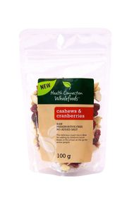 Health Connection Wholefoods Cashews & Cranberries - 100g