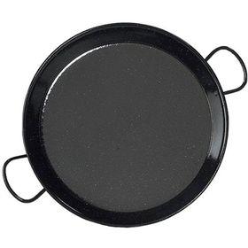 Perfect Paella - 36cm Enamelled Mild Steel Paella Pan - Black