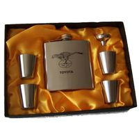 Cheetahs Steel Hip Flask & Shooter Set