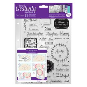 Docrafts Creativity Essentials A5 Clear Stamp Set - Female Family