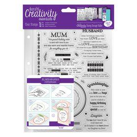 Docrafts Creativity Essentials A5 Clear Stamp Set - Verses