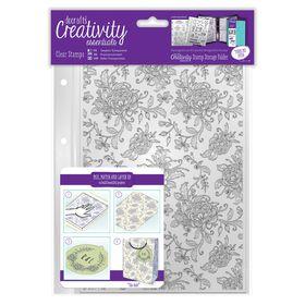 Docrafts Creativity Essentials A5 Clear Background Stamp Set - Floral Background