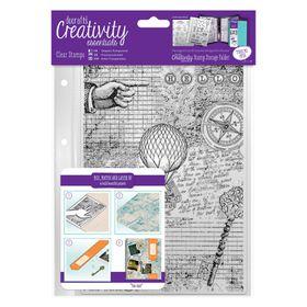 Docrafts Creativity Essentials A5 Clear Background Stamp Set - Steampunk Background