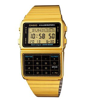 Casio Databank (DBC-611G-1DF) Men's Watch - Gold