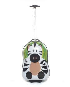 Paklite Zoo Baby Trolley Case Zebra - Green